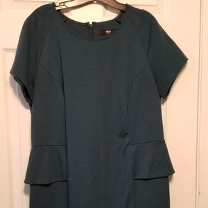 Peplum Mossimo Dress, Deep Teal